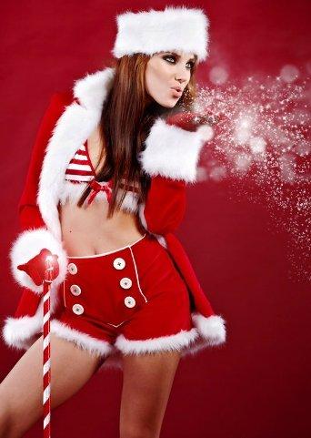 фото девушки рыжей снегурочки