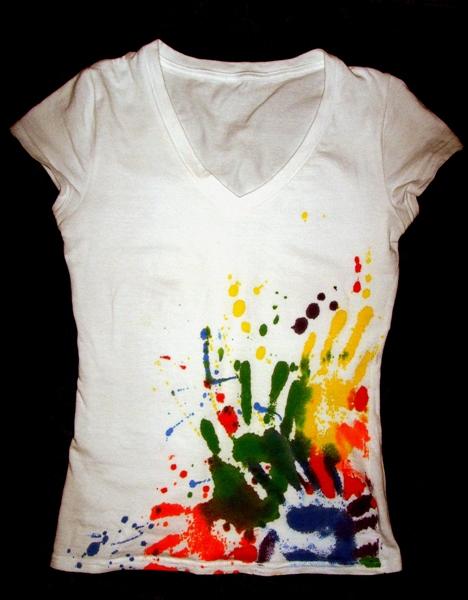 Принты на футболку своими руками красками 92