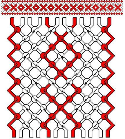 Схема фенечка меандр с греческим узором