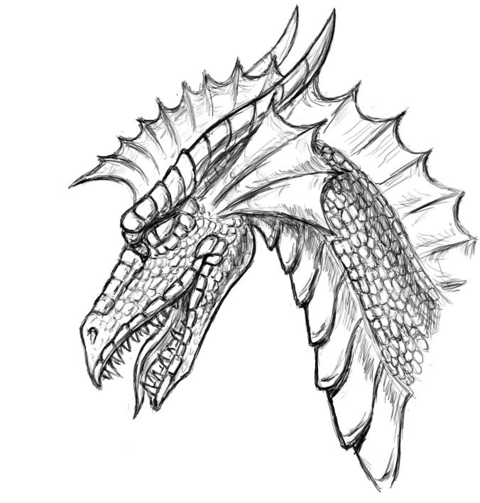 рисовать дракона:
