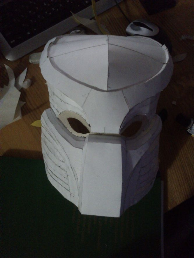 Как из картона сделать маску хищника