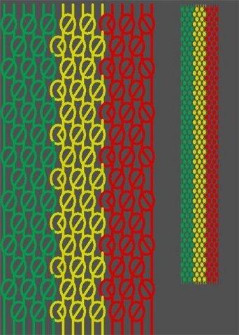Схемы фенечек. Плетение. Fl