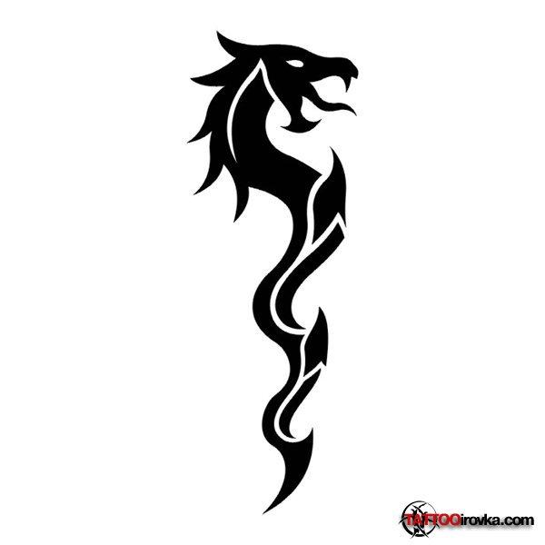 Тату фото абстракции драконы