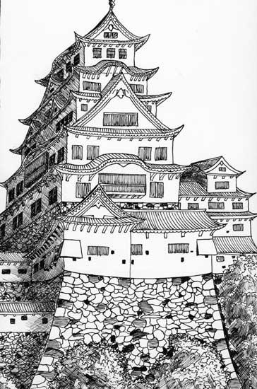 Замок в рисунках схема замка в minecraft