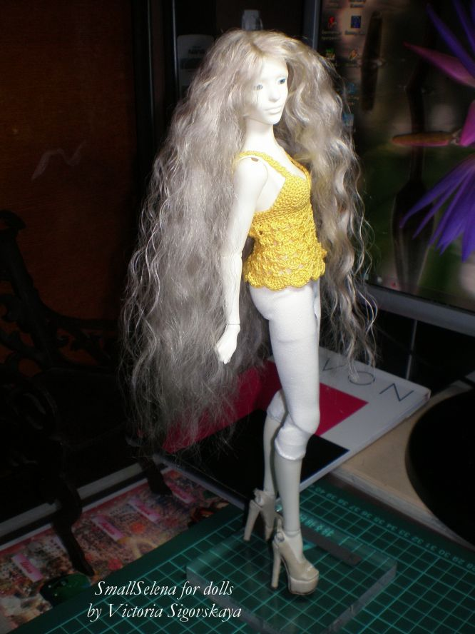 Как сделать парик для куклы видео своими руками 7
