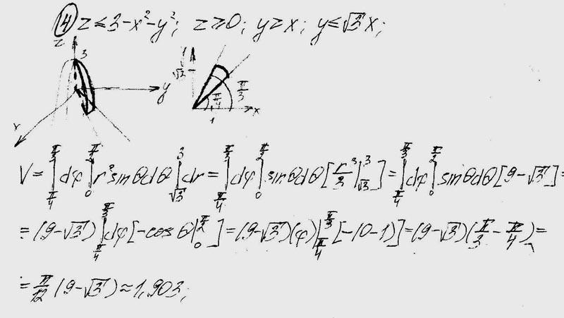 поверхностями тела вычислить по математике высшей ограниченного решебник объем