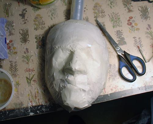 Как сделать маску из папье-маше  видео уроки
