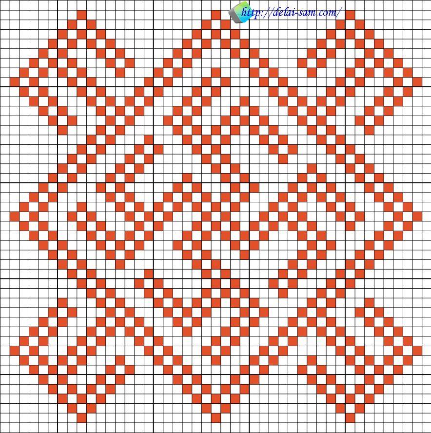 Схема вышивки на косоворотку
