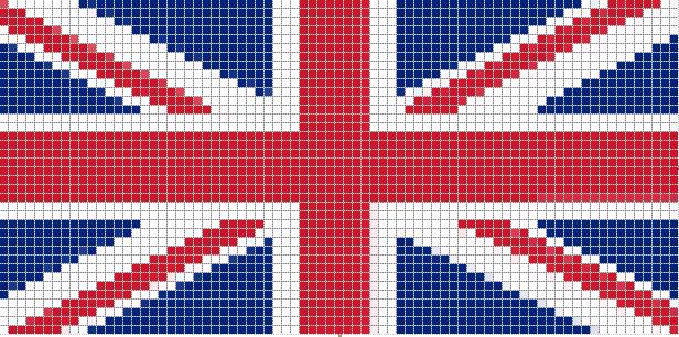 схема плетения флага