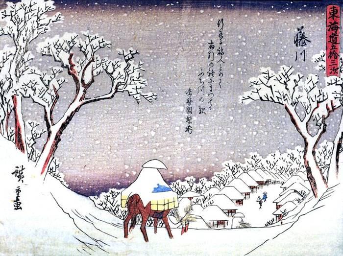 Живопись укиё-э:художник Утагава Хиросигэ.