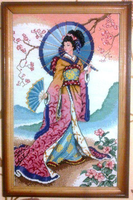 Схемы для вышивки японка