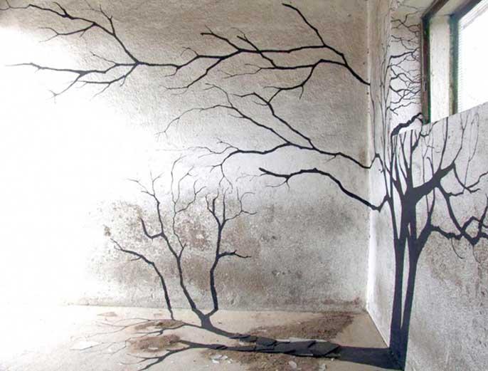 Как рисовать тени на стенах