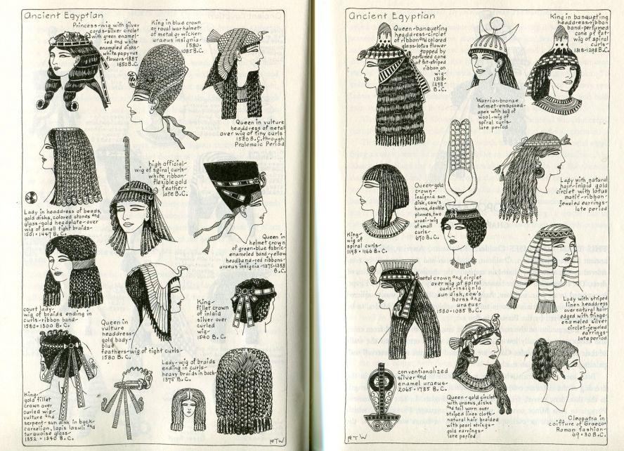 Прически в древнем египте в картинках