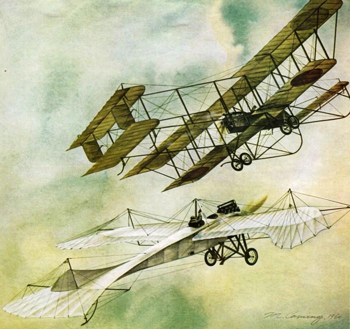 Он утверждал, что самолет, с которым едва не столкнулся, выглядел как летательный аппарат времен Первой мировой войны.
