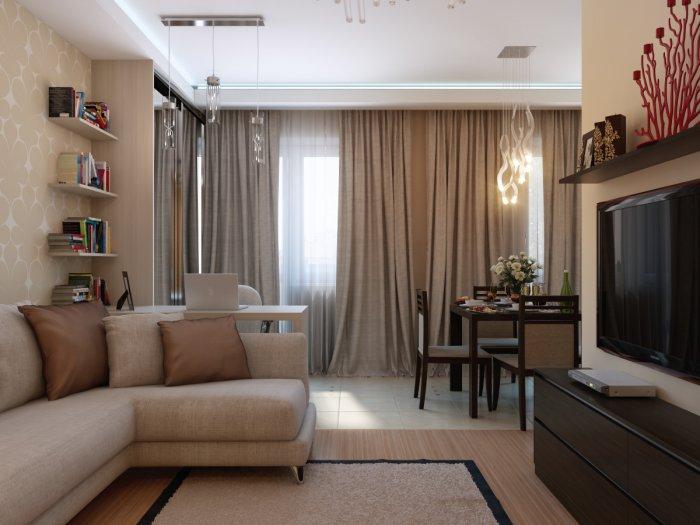 Идеи дизайна гостиной в хрущевке фото