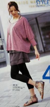 bd7892c4ab03a 1) Лосины (обычно плотные черные), сверху шорты или юбка. Затем топ,  футболка и безразмерная рубаха.
