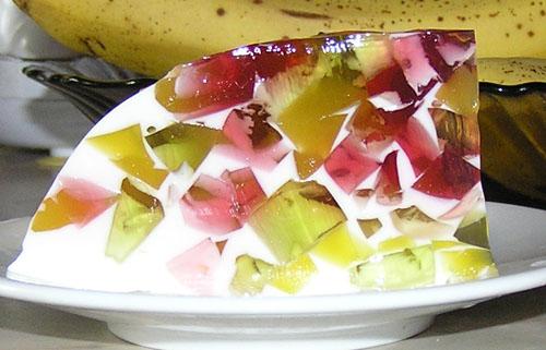 Летний рецепт торта с желе и фруктами Фруктовая фантазия.