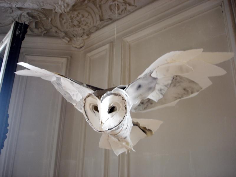 Объемная сова из бумаги