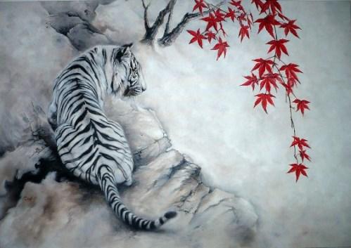 Схема вышивки тигр - скачать