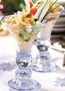 Рецепты для Романтического ужина!  Коктейль из морепродуктов с авокадо.