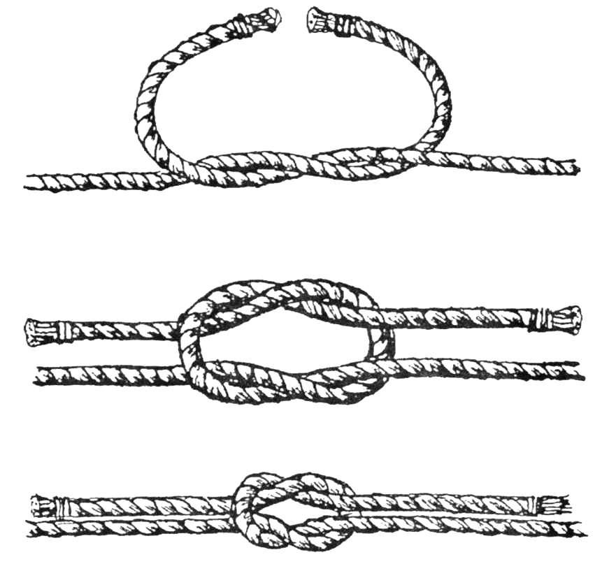 Он издавна считался одним из самых надежных узлов для связывания тросов...