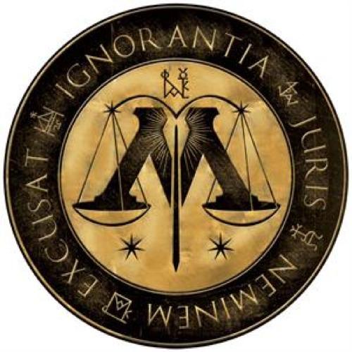 Девиз Министерства магии: Ignorantia juris neminem excusat (лат. За
