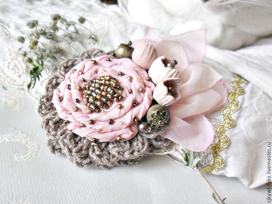 Цветок бохо из ткани своими руками мастер-класс 50