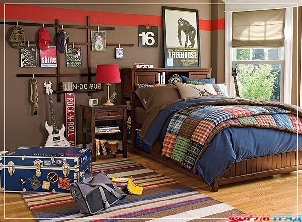 интерьер комнат для мальчика подростка.