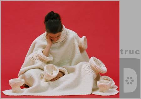 Описание: вязание манишки для детей.