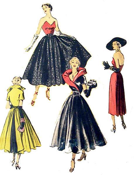 старые выкройки платьев.