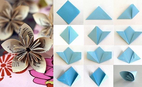 Как сделать цветочек своими руками из бумаги