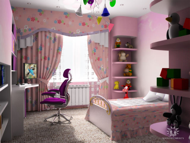 Комната девочки дизайн
