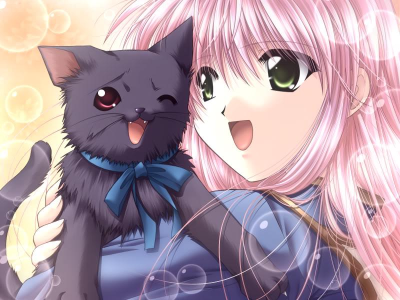 аватарки кошки аниме: