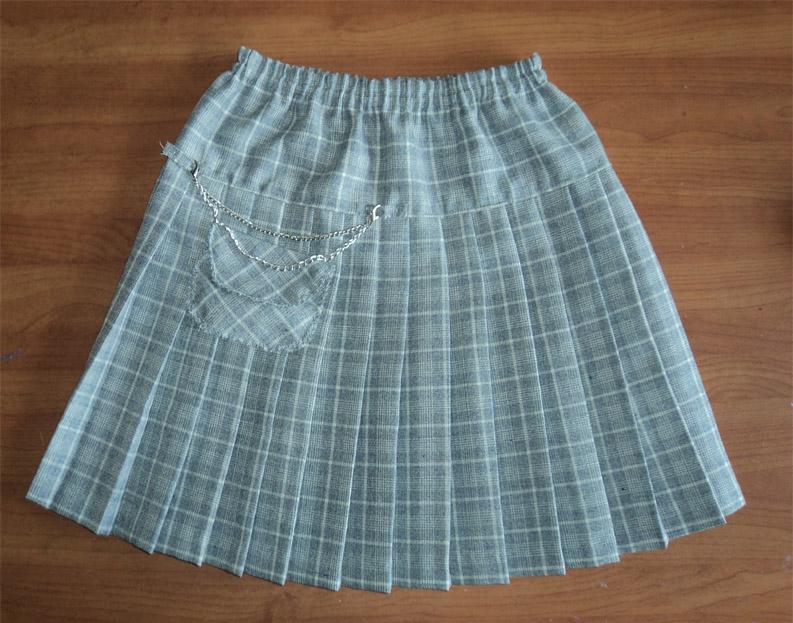 Как сшить юбку в складку с резинкой 988