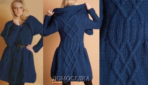 Вязание спицами пальто для девушки узоры - Master class
