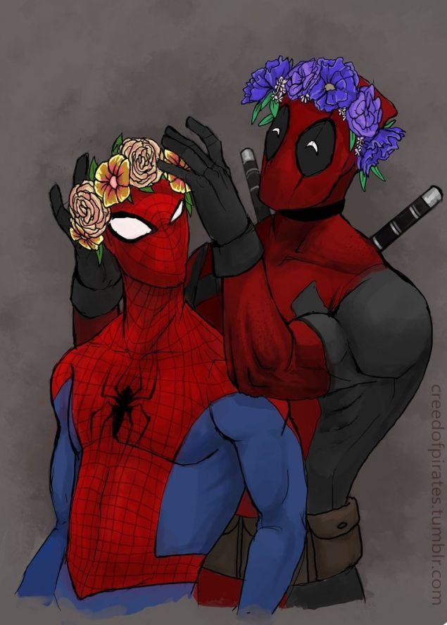 Venom and spiderman slash