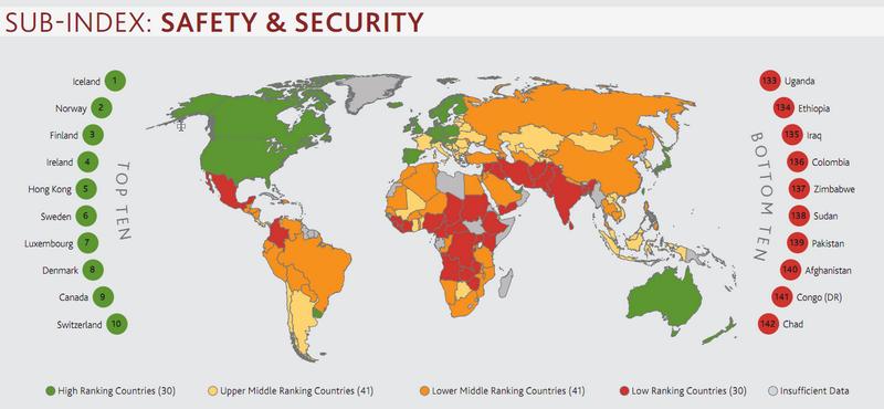 Рейтинг стран - безопасность