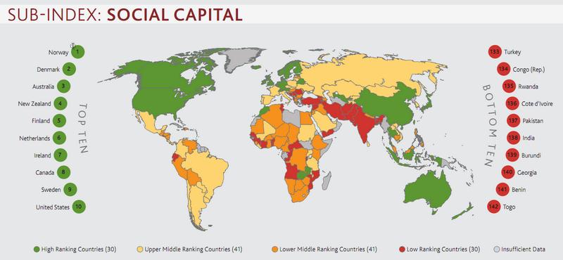 Рейтинг стран - социальный капитал