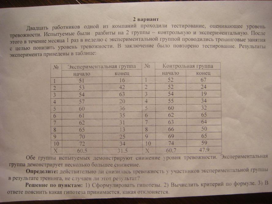 Тест Манна-Уитнея U фото