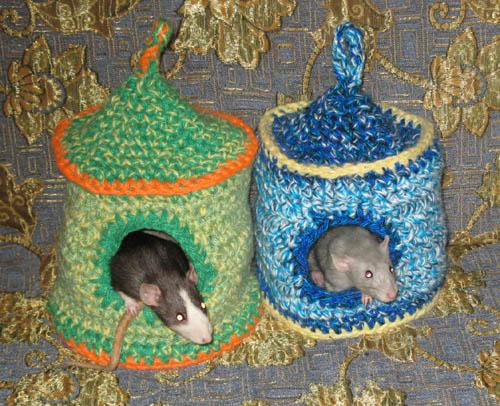 Вязаный гамак для крысы своими руками 13