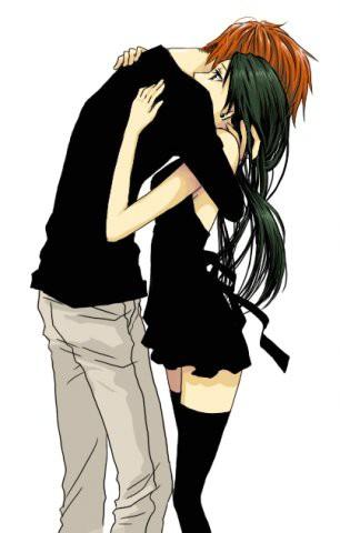 картинки нарисованные парень и девушка обнимаются