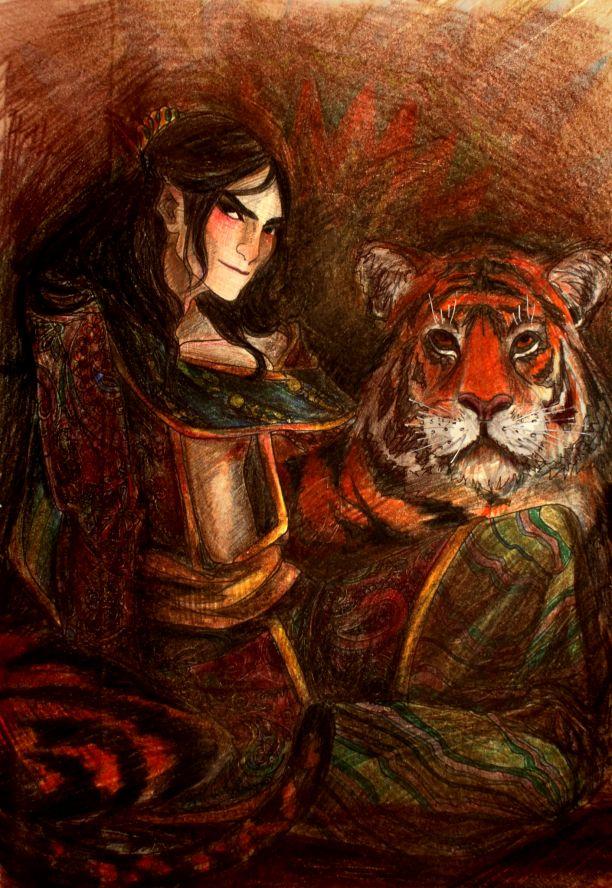 Бату кормит тигра пирогами, тот сильно раздобрел