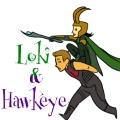 Hawkeye and Loki