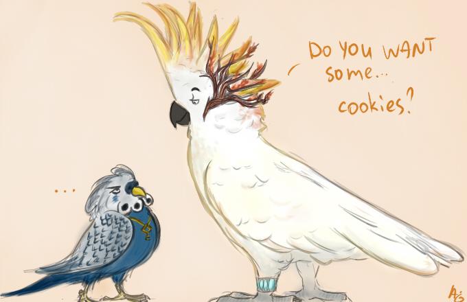 попугайки, лол