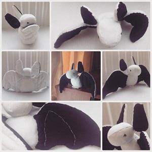 чёрно-белая летучая мышь