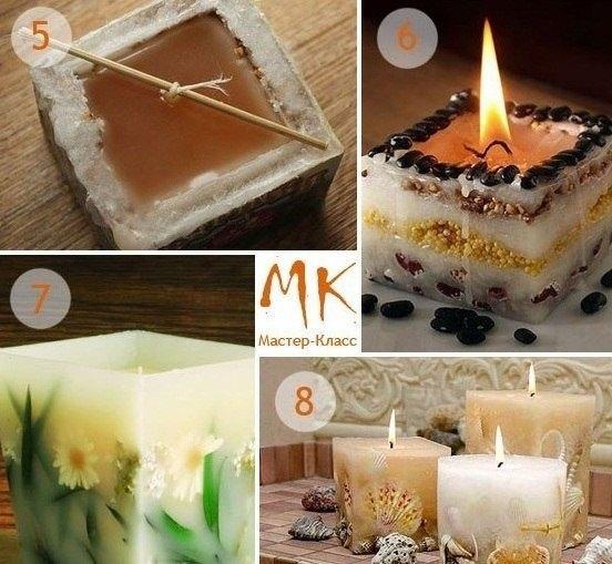 Как делать свечу с
