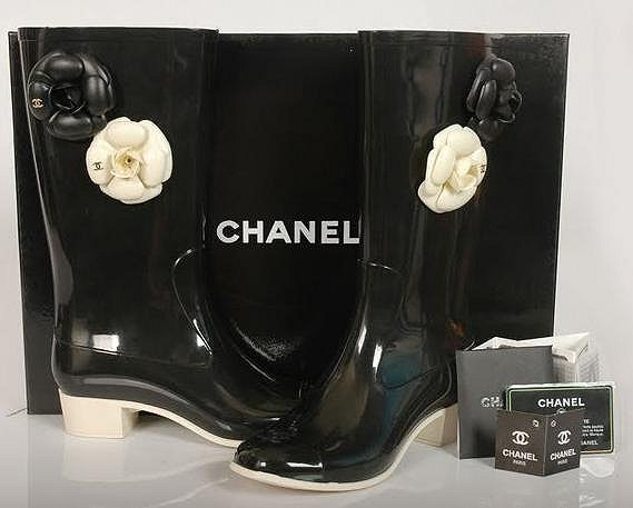 Chanel rain boot women flower shoes,Shoes,Knockoff Boots,Wholesale.