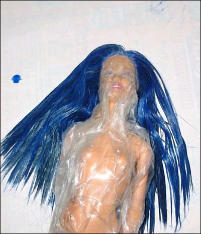Покрасить волосы кукле в домашних условиях