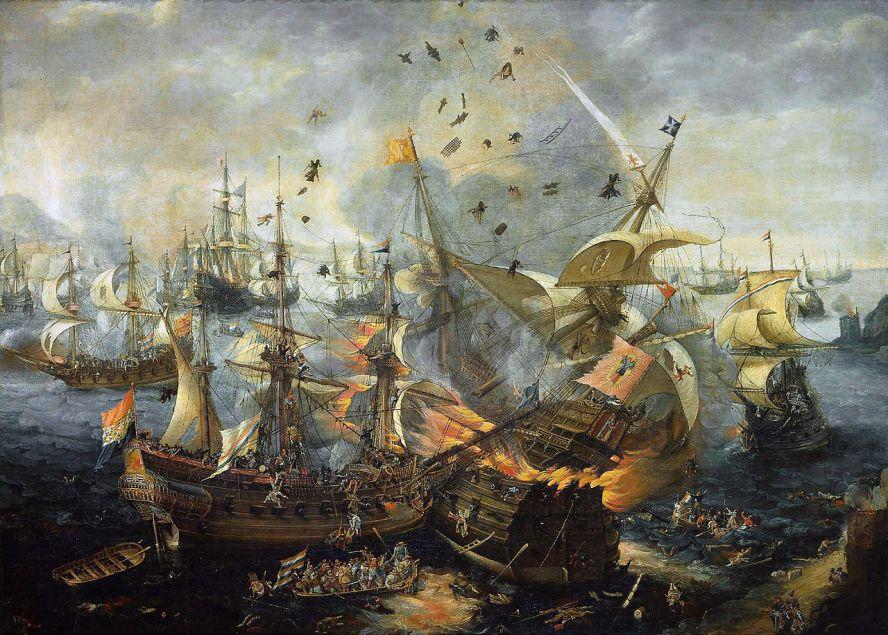 Гибралтарская битва, морское сражение, состоявшееся 25 апреля 1607 года во время Восьмидесятилетней войны. В нём нидерландский флот застал врасплох стоящую на якоре у Гибралтара испанскую армаду и в течение четырёхчасового боя полностью её уничтожил.