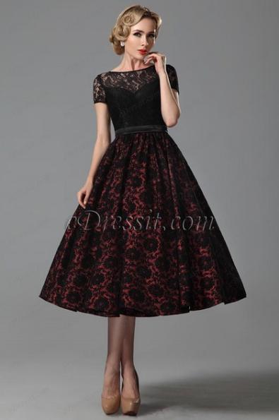 Фото пышных платьев ниже колена